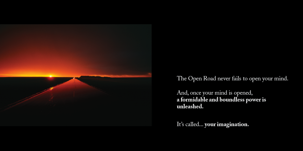 Sample pages from the book 'Open Roads Open Minds'